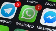 Whatsapp, Messenger, Telegram and other phone chat Apps on iPhone screen